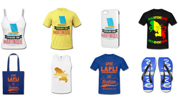 Boutique souvenirs t shirt martinique 972