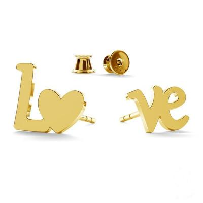 800x800 earrings love gold withclip