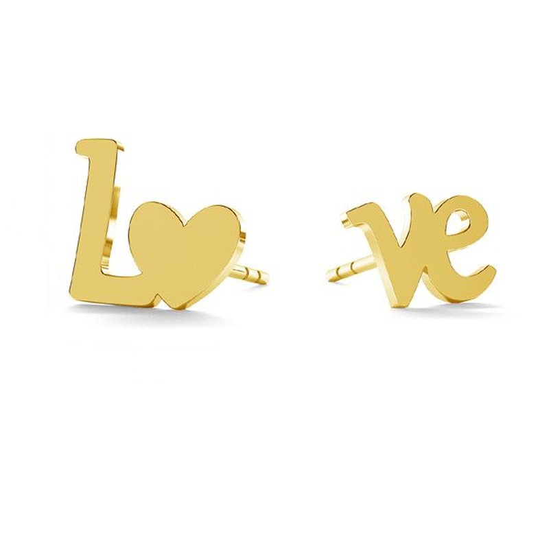 800x800 earrings love gold