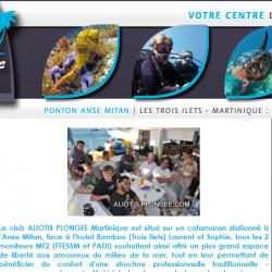 Le club Aliotis Plongée aux Trois-Îlets