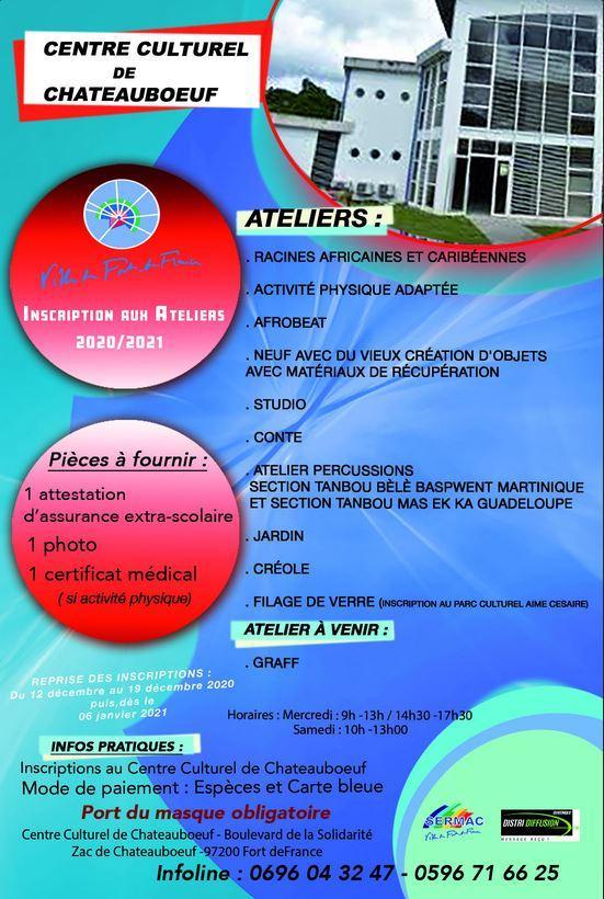 Centre culturel chateauboeuf ateliers