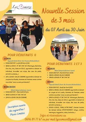 Cours de bachata lyzosmose 7 avril au 30 juin