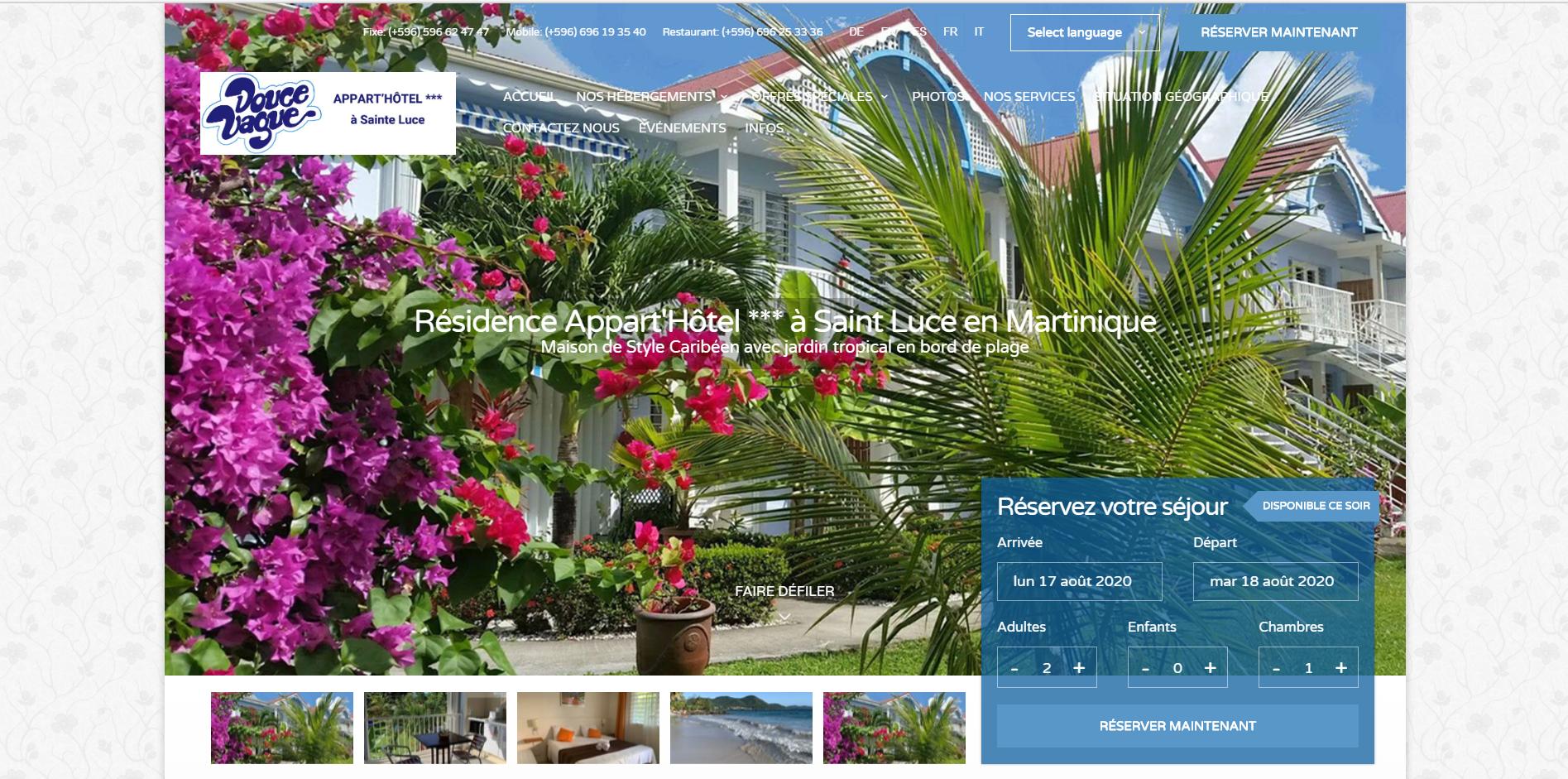 Hôtel Douce Vague, Sainte-Luce Martinique