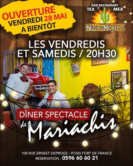 Diner spectacle mariachis martinique