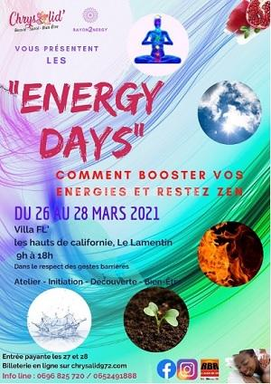 Energy days le lamentin 26 au 28 mars 2021