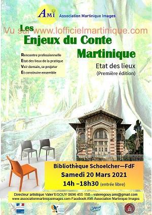 Enjeux du conte 20 mars 2021 bibliotheque schoelcher fort de france
