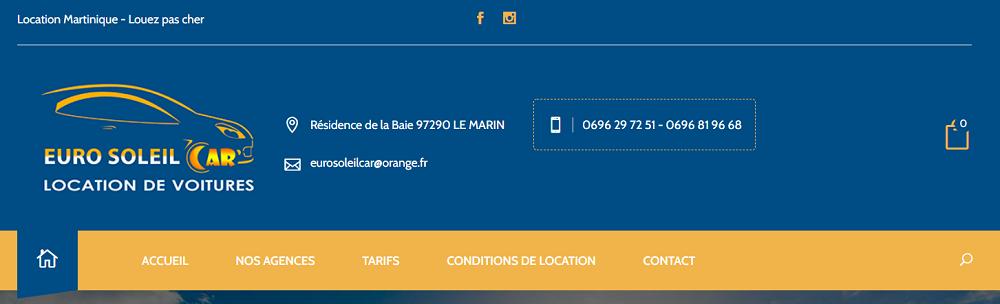 Euro Soleil Car Agences de Location de voitures en Martinique