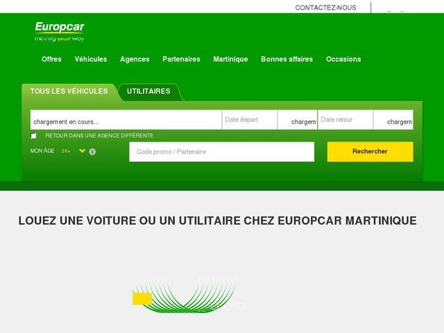 Europcar reservation martinique