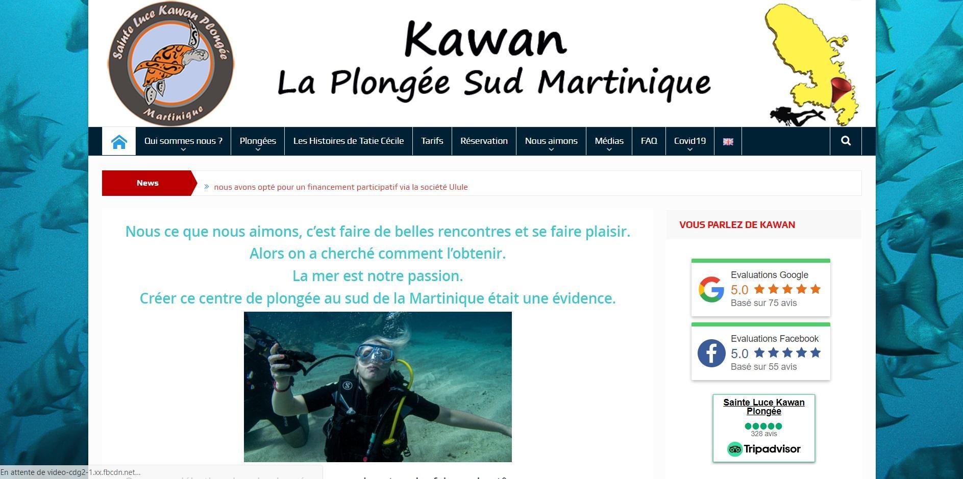 Kawan Plongée – Sainte Luce –Martinique