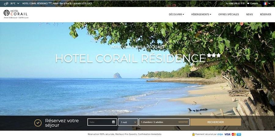 Hotel corail sainte luce