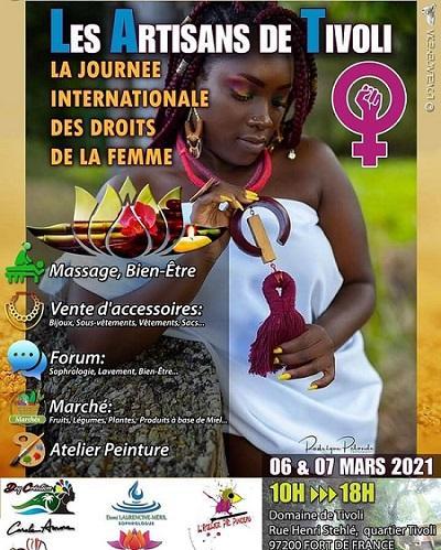 Journee internationale des droits de la femme artisans du tivoli 6 et 7 mars 1