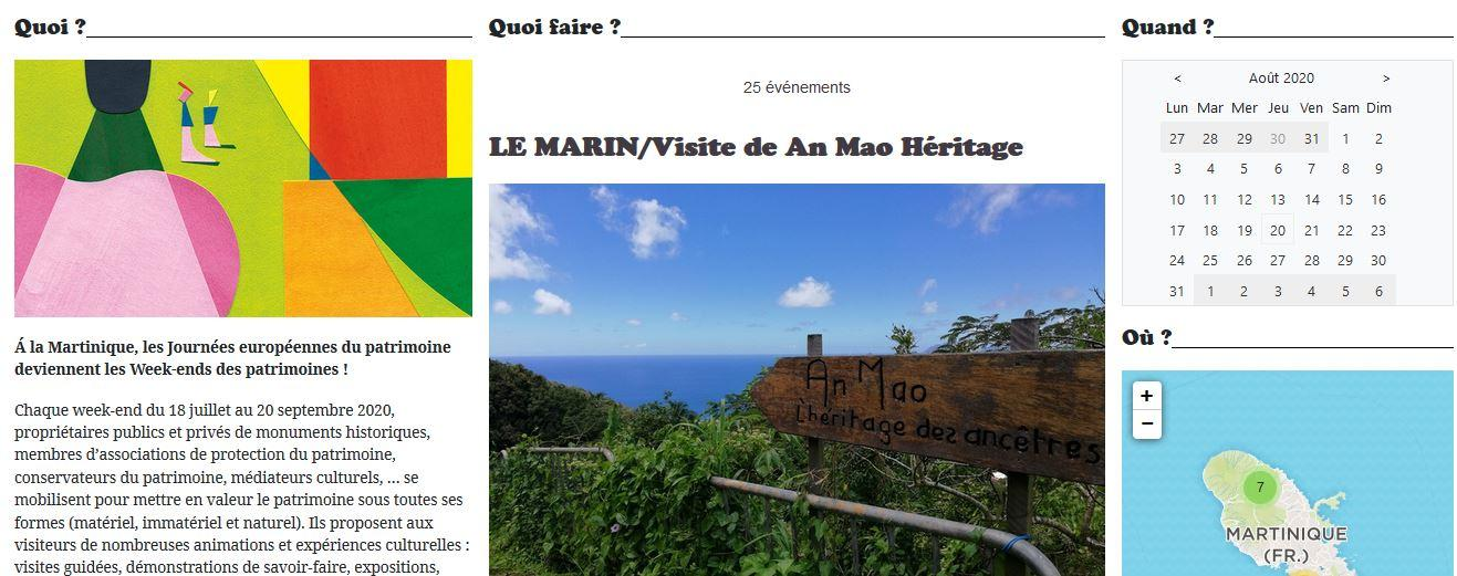Journees du patrimoine martinique 2020 jep