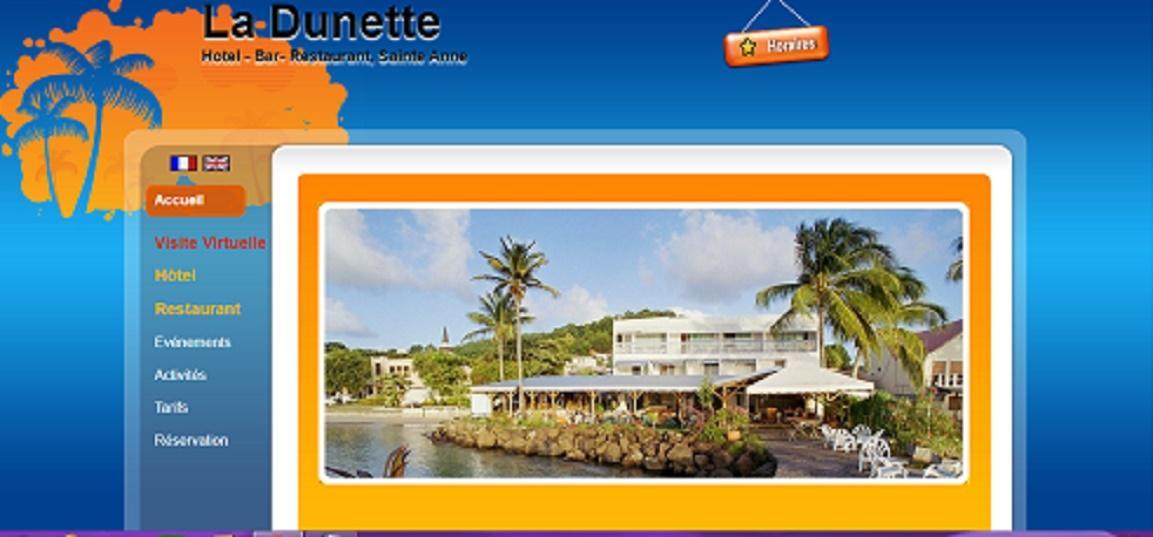Le restaurant La Dunette à Sainte-Anne en Martinique