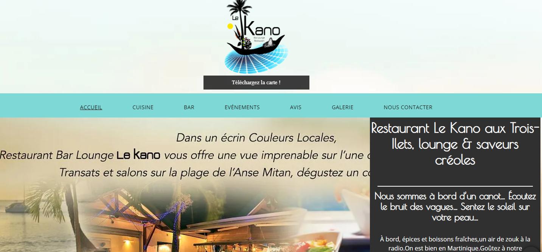 Le restaurant le Kano aux Trois-Îlets