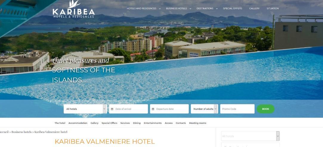 Hôtel Karibea Valmenière : réserver sa chambre à Fort-de-France