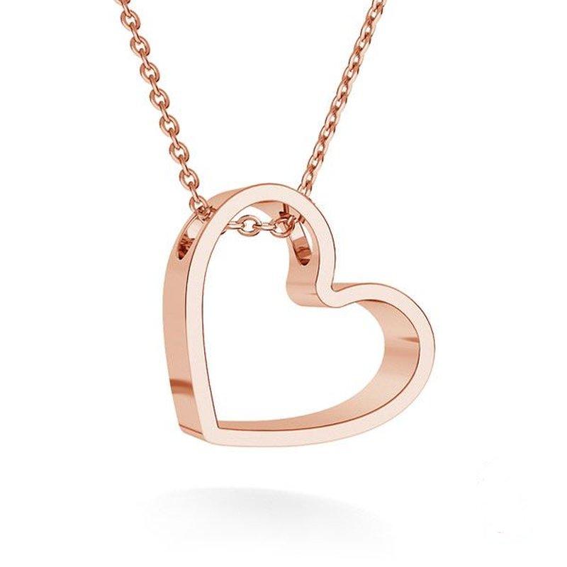 Lovebird heart halskette 18k rosegold vergoldet kaufen