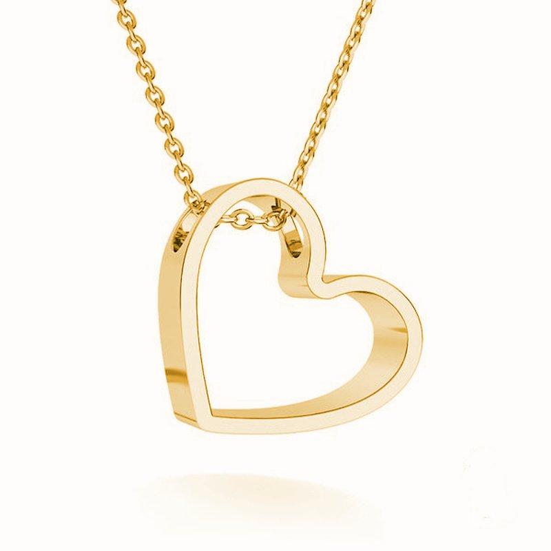 Lovebird heart halskette 24k gelbgold vergoldet kaufen