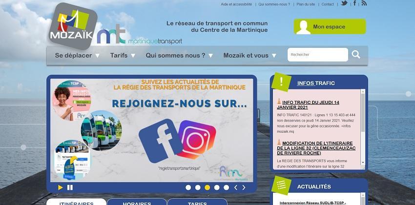 Mozaïk - Réseau de bus - Martinique