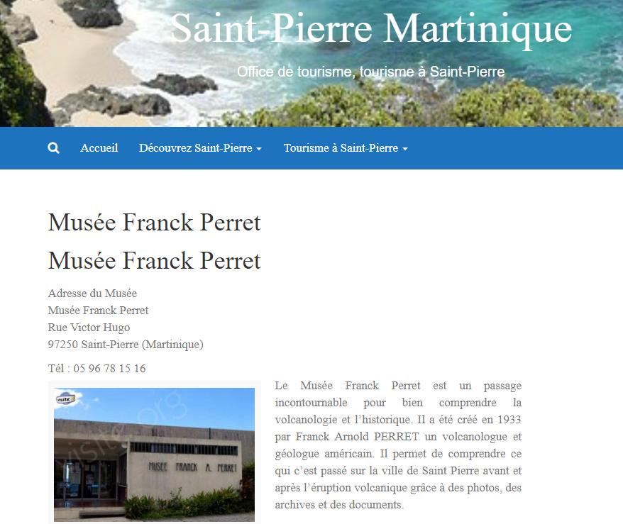 Musée volcanologique de Franck Perret à Saint-Pierre