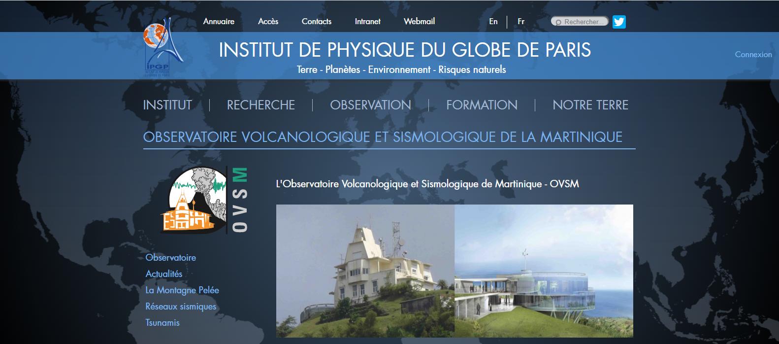 Observatoire du morne des Cadets, Montagne Pelée en Martinique