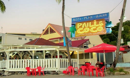 Restaurant Paille Coco à Sainte-Anne en Martinique