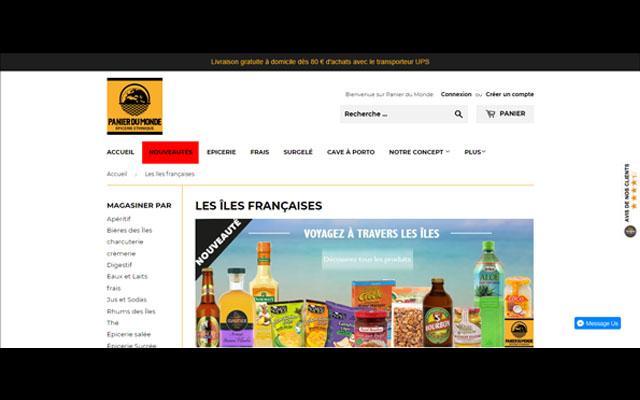 Panier du Monde, les produits des îles françaises