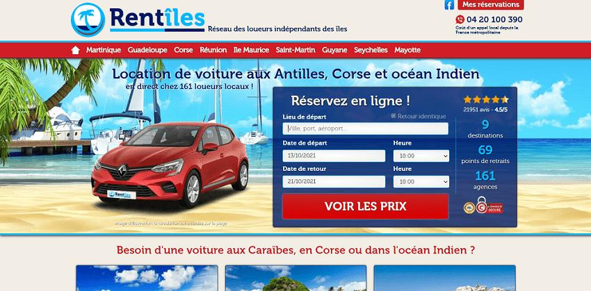 Rentîles Location véhicules Martinique