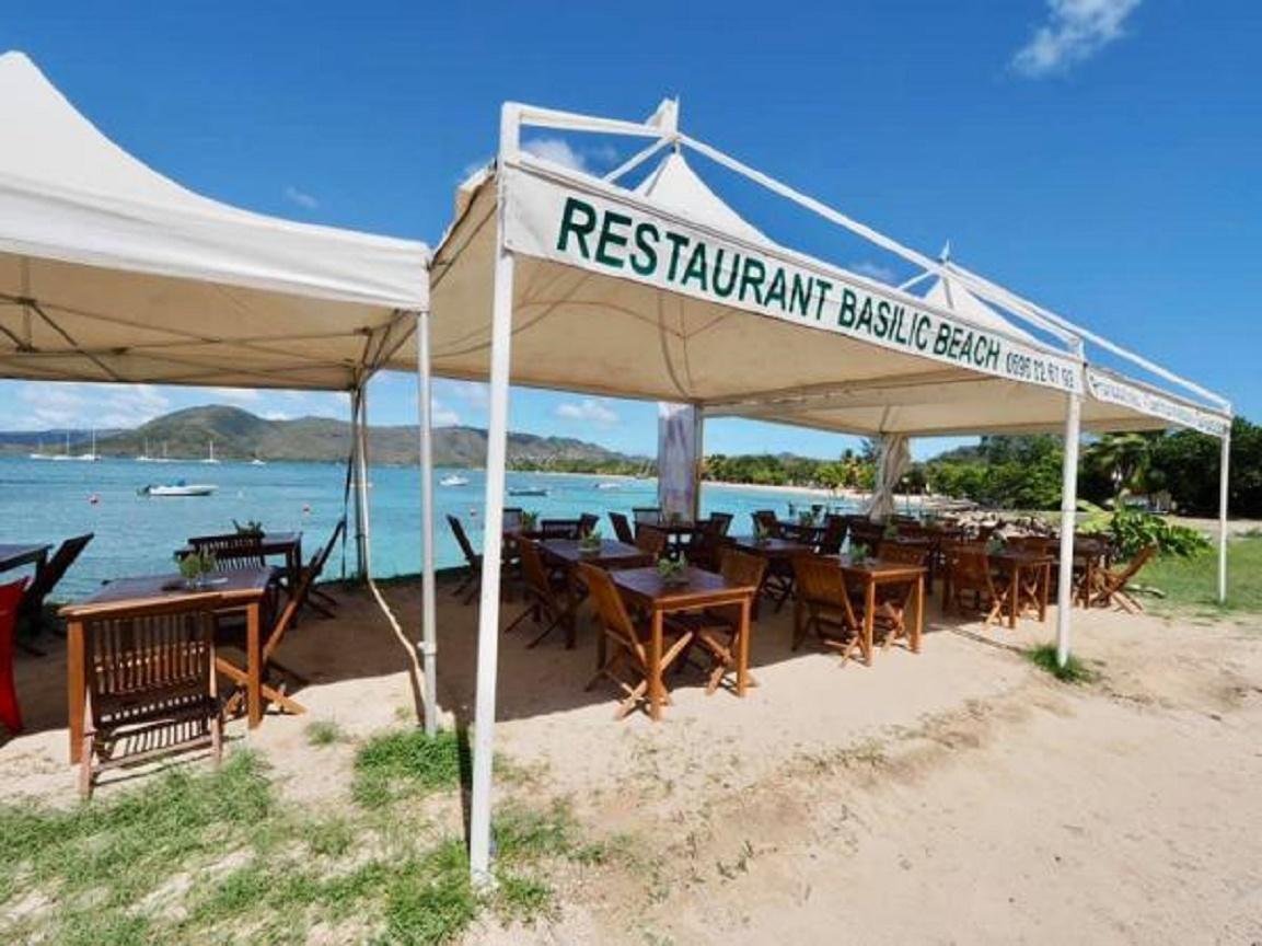 Restaurant Basilic Beach à Sainte-Anne en Martinique