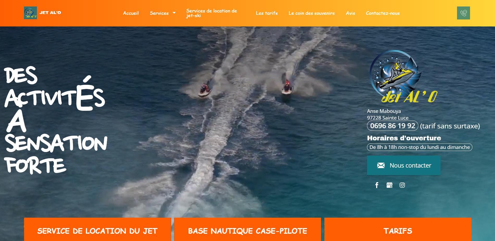 Jet Al'o à Sainte-Luce en Martinique