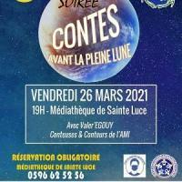 Soiree contes avant la pleine lune 26 mars 2021 sainte luce