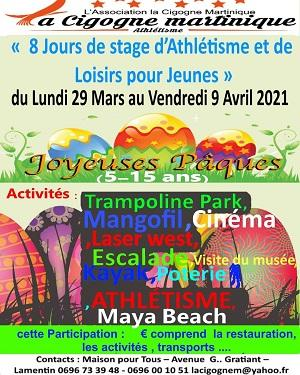 Stage d atletisme 29 mars 04 avril association cigogne