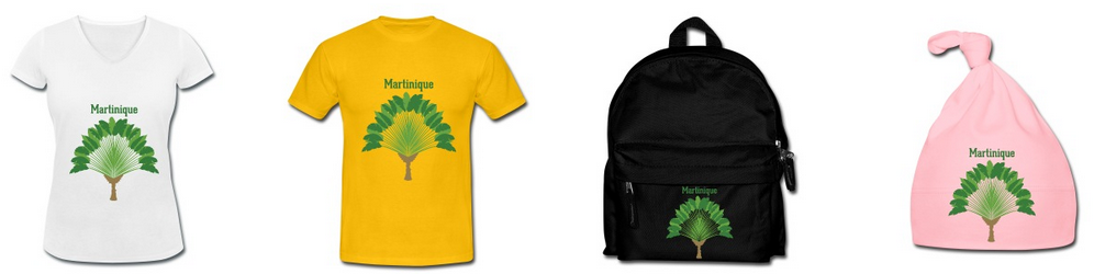 T shirt martinique arbre