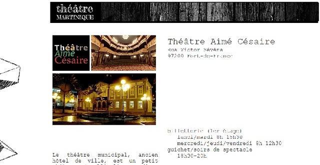Théâtre municipal Aimé Césaire en Martinique