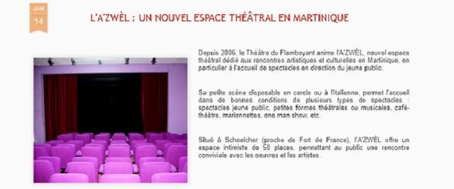 Le théâtre du flamboyant A'ZWEL de Martinique