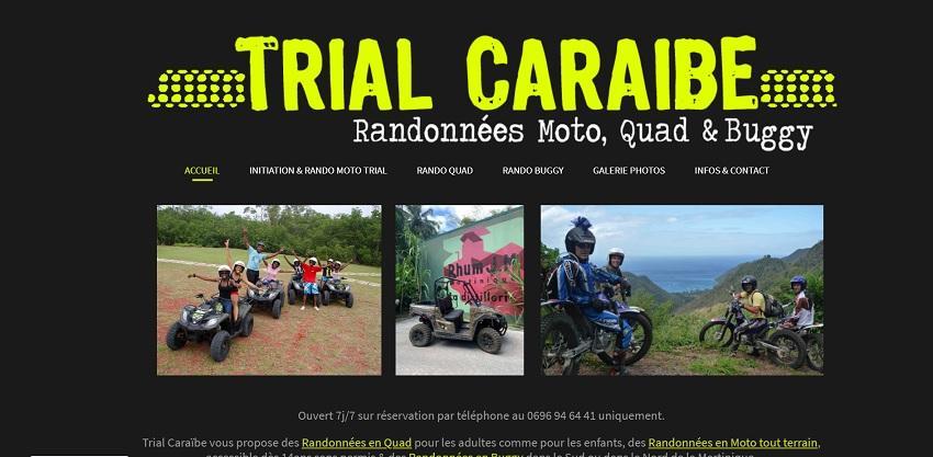 Trial Caraïbe randonnées à moto, quad et buggy aux Trois-Îlets