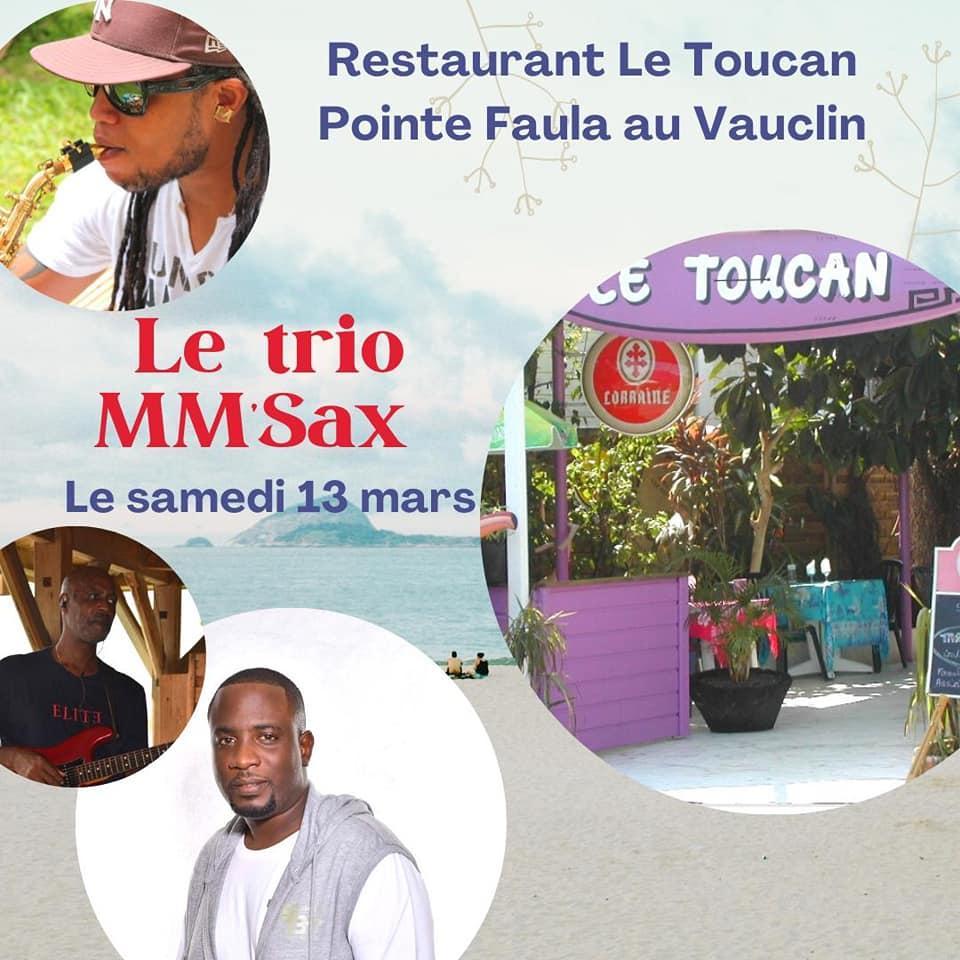 Trio mmsax restaurant toucan martinique 13 mars 2021
