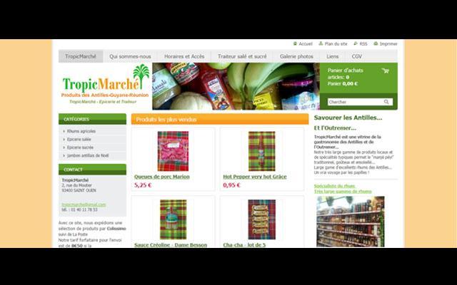 Tropic Marché, vendeur de produits des Antilles, Guyane et la Réunion